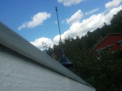 RTL-SDR antenn på taket