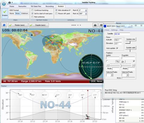 Satellitspårning med SDR Console