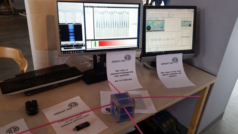 Vi visar telemetrimottagning från AO-73 Funcube.