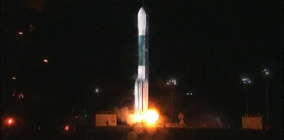 The Delta II carrying RadFxSat launches (Source: NASA)